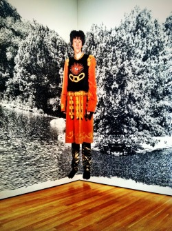 laurensieczkowski:  Finally got to the incredible Cindy Sherman exhibit at the MoMA.  I will always toast to a life (and strive to have one) filled with intriguing characters, fairy tales, experimentation, and reinventing oneself.  She is a beacon. It's only through June 11th, so if you haven't seen it yet, get goin!    Cindy Sherman closes at MoMA this weekend, meaning it's almost time for her work to be de-installed, packed up, and shipped on over to SFMOMA. San Franciscans, rejoice.