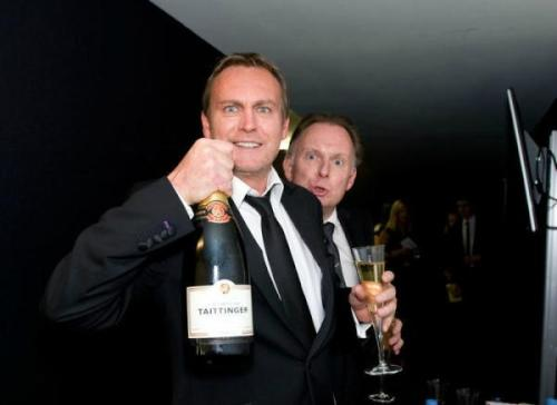 Phil and Robert at the BAFTA aftershow party
