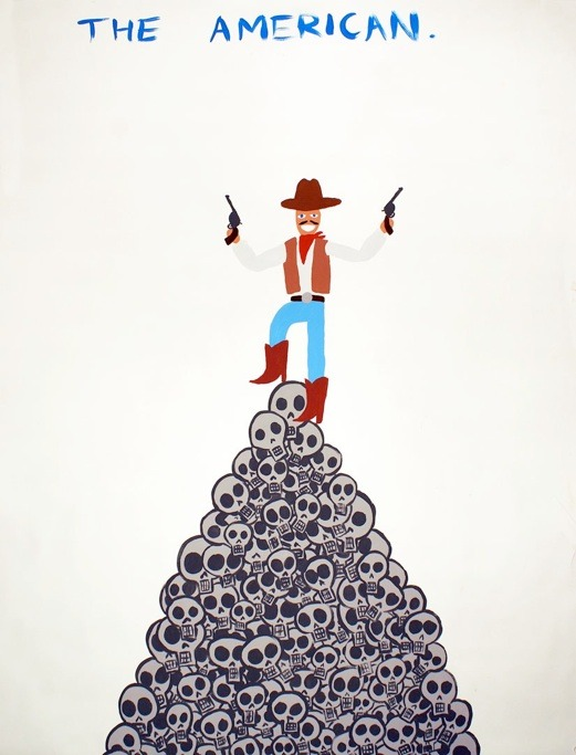 "Jayson Musson, ""The American"" (2010), tempera on paper, 30 x 40 inches (via The Problem with Hennessy Youngman)"