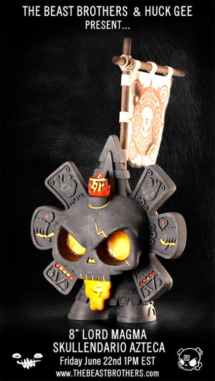 Lord Magma Dunny created by Beast Bros. & Huck Gee