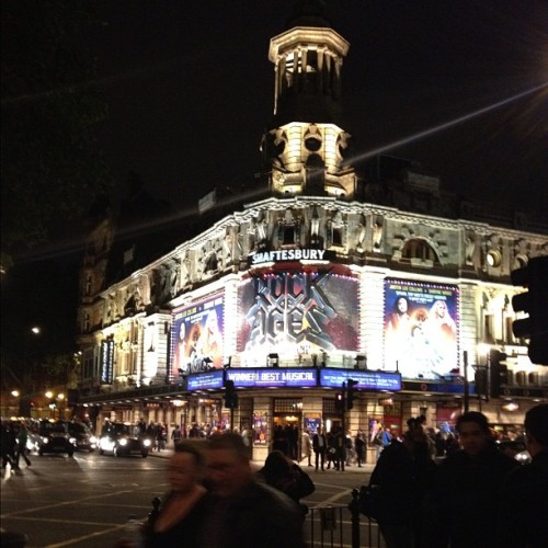 Such a good show #rockofages #rock #theatre #london (Taken with Instagram)