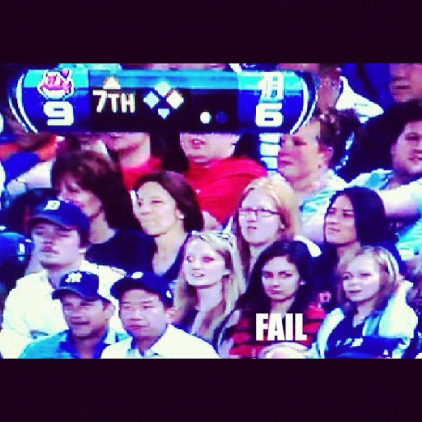 @clbutwin made it on TV at the Tigers game! #gosports #fail #mlb (Taken with Instagram)