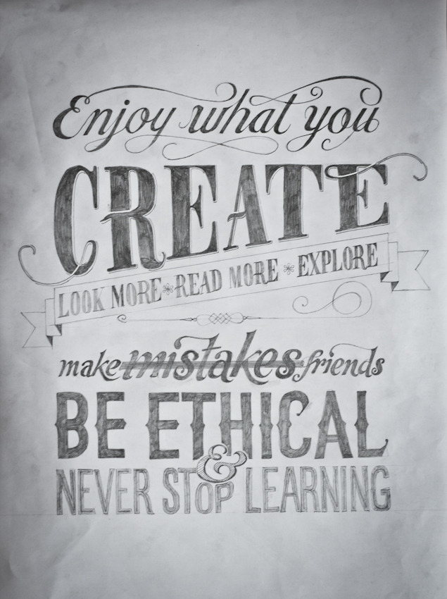lindasinklings:  enjoy what you create. via (modernhepburn)