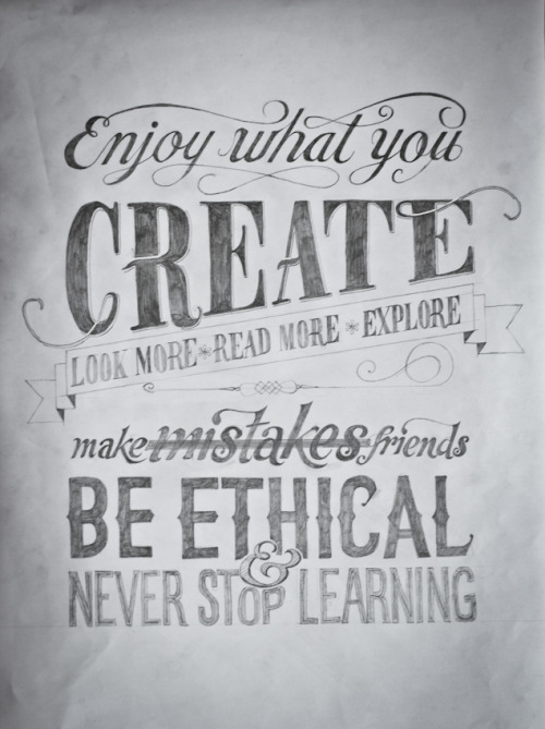 Enjoy what you create…