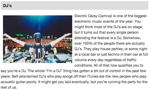 7 Types of People at EDC Because people in Vegas need another excuse to rage for three days straight.