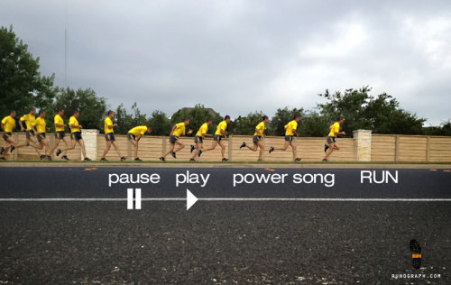 Pause…Play…Power Song…RUN