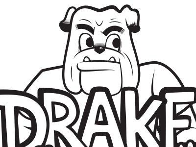 I'm working on recreating Drake University's classic 'Marching Bulldog' mascot mark (attached). It's been a favorite mark for well over half a century. I'm attempting to update it while holding on to some of its classic stylistic elements. Check out my project of bulldog illustrations on dribbble!