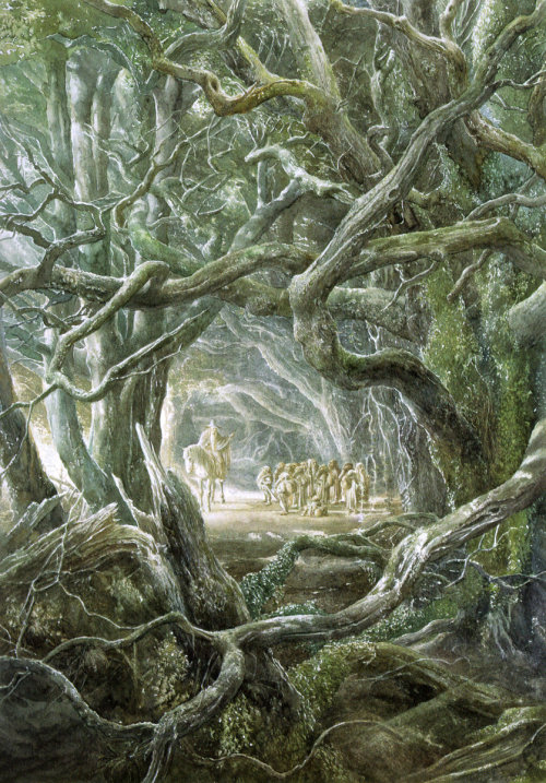 Thorin and Company Bid Farewell to Gandalf - Alan Lee