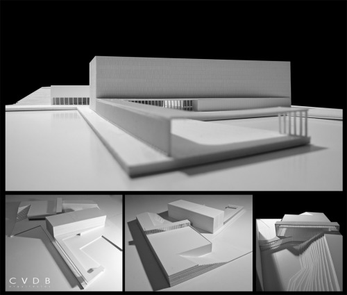 archimodels:  © CVDB architects + hugo nascimento (model photo) – slovenj gradec school center competion – slovenj gradec, slovenia - 2012  This is my directors firm - really great stuff coming out of CVDB Architectos!