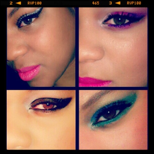 #makeupbylorealnicole #browneyes #glitter #makeup #wingedliner #eyeshadow  #mua  (Taken with Instagram)