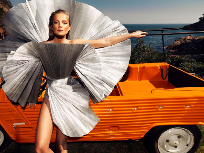 "Eniko Mihalik in ""La Costa Brava"" Photographed by Nico & Styled by Barbara Martelo for Harper's Bazaar Spain, June 2012"