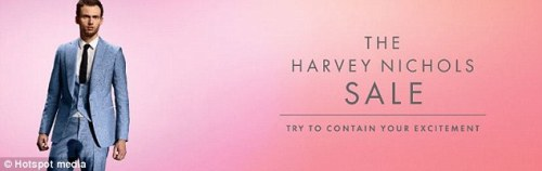 Distasteful Harvey Nicks ads found distasteful.
