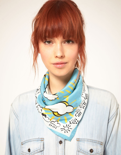 Moschino Cheap & Chic Forecast Spring ScarfMore photos & another fashion brands: bit.ly/JkypyY