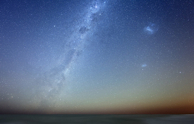 naturewisdom:  Milky Way and the Magellan Clouds by lrargerich on Flickr.
