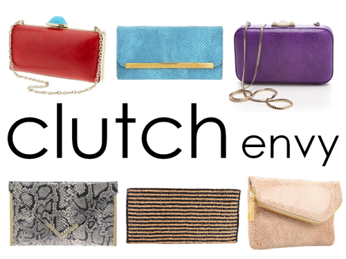 City Girl accessories: The Clutch. From the miniaudiere to the oversized envelope clutch, these little handheld accessories are trending across all labels and walks of life. There is something enviable about a man who goes to work with just a wallet— so why not stuff a clutch with just the essentials? (Then you have more hands to hold shopping bags— true story.)  From top left to bottom right:  Banana Republic // ASOS // Rebecca Minkoff  ASOS (under $20) // Forever 21  // Hobo**  **I own this Hobo clutch and I adore it! It's 3 bags in one with the detachable strap— definitely worth the $$$.