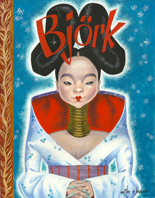 Little Golden Book Björk illustration by Mike Baker :: via mikerbaker