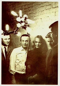 poetsorg:  Photo : l. to r. John Ashbery, Frank O'Hara, Patsy Southgate,Bill Berkson, Kenneth Koch, copyright © Mario Schifano, 1964.The image is taken from Homage to Frank O'Hara, ed. Bill Berkson and Joe LeSueur