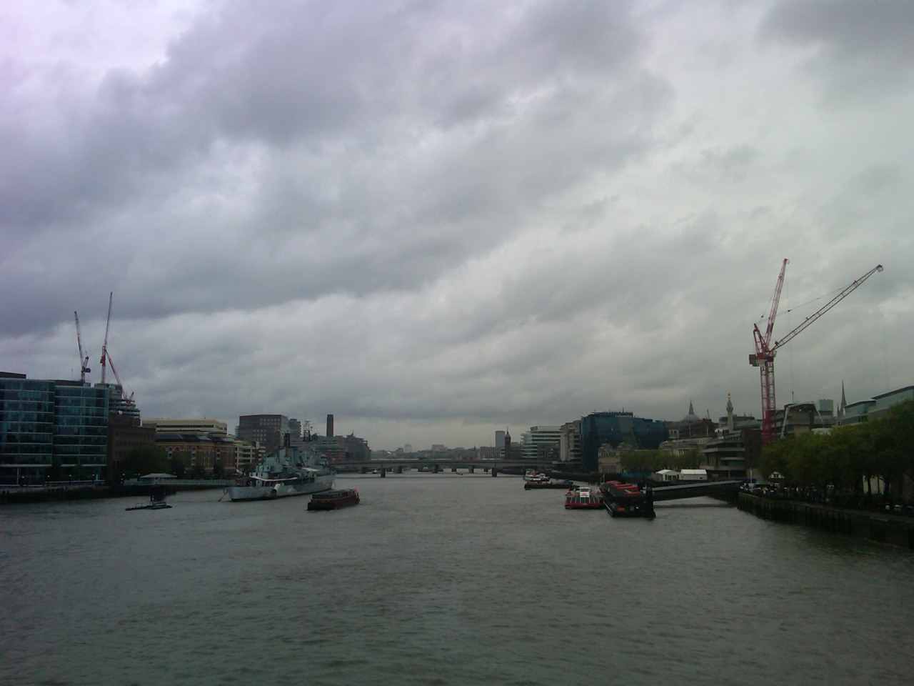 View from the Tower Bridge.