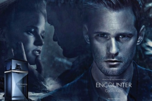 """True Blood's"" Alexander Skarsgard to Star in Calvin Klein Fragrance Ads Alexander Skarsgard, the hunky Swedish actor who plays Eric Northman in HBO's True Blood, is the face of Calvin Klein's new men's fragrance, Encounter. Skarsgard, 35, who stars in print and television ads for the new product, was intrigued by the commercial's concept.   More Here"