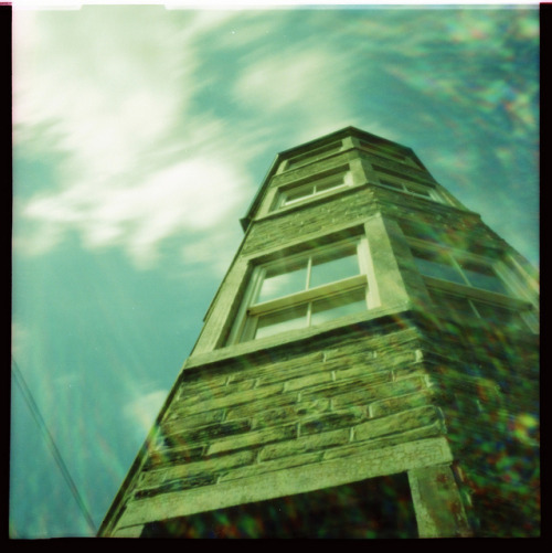 Coffin End, Thornton on Flickr.Via Flickr: Approx 6 second exposure, Diana F+ Pinhole, Fuji 64T