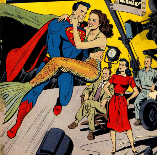 Action Comics #130 (DC, 1949) Ann Blyth as a mermaid promoting Mr. Peabody and the Mermaid film
