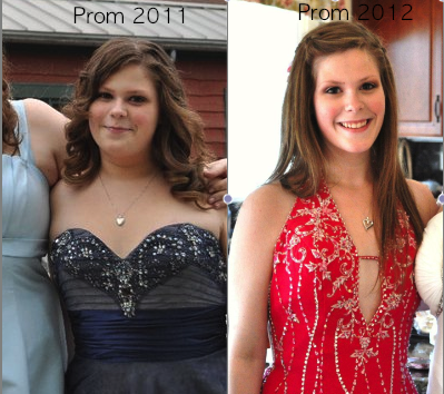 alexcubby:  Prom 2011 VS Prom 2012   This girl is seriously my inspiration. <3