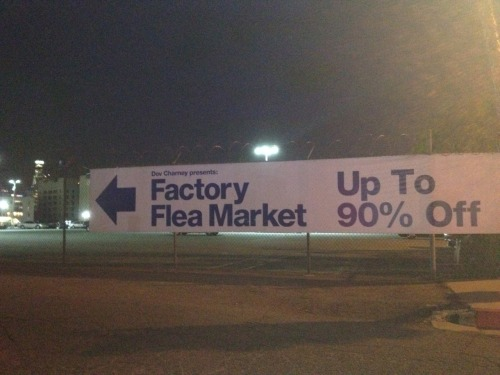 Dov Charney presents: the American Apparel Factory Flea Market in Los Angeles.