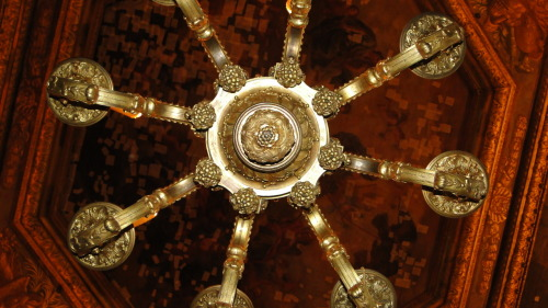 One of the beautiful chandeliers from the Palace of Versailles!