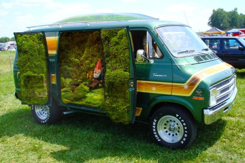 npr:  architizer:  Terrarium Van at Somerset Garden Festival  The gnome makes it. One half expects to see Audrey Tautou smirking in the background.—Daisy