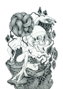 rosewong:  Indulgence ' Rose Wong graphite on bristol