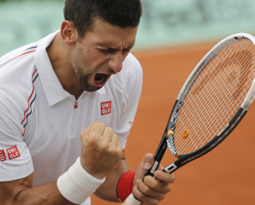imwithkanye:  Novak Djokovic is headed to his first French Open final. He defeated Roger Federer in straight sets (6-4, 7-5, 6-3). [image]