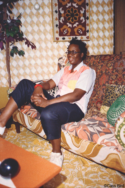 We love this Cass Bird portrait of Mickalene Thomas. Here's Mickalene's MTV Art Breaks video: ReVay  cassbird:  Mickalene Thomas for Oyster Magazine #99, the All Women's issue.