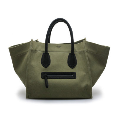 Canvas Céline tote is another must.