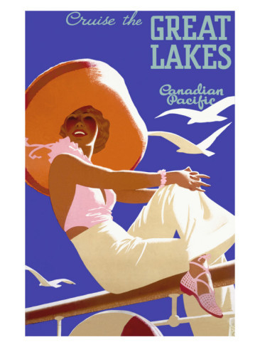 Fabulous 1930s Canadian Pacific travel poster