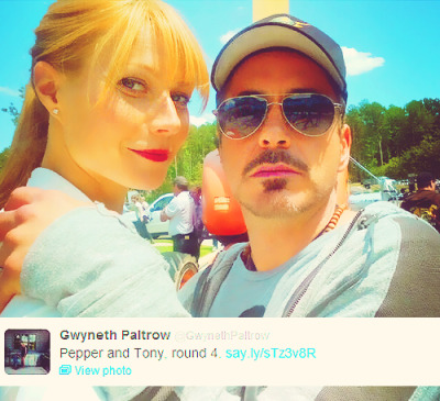 captstark:  @GwynethPaltrow: Pepper and Tony, round 4.