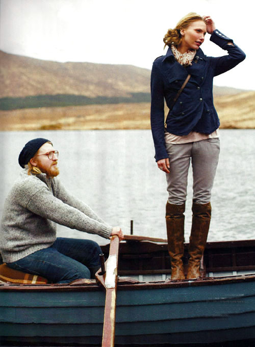 oldfishingphotos:  Fishing Fashion Garnet Hill, Fall 2010 Source: Design Mom