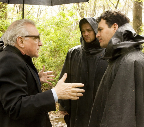 tarkowski:  Martin Scorsese, Leonardo DiCaprio & Mark Ruffalo on the set of Shutter Island