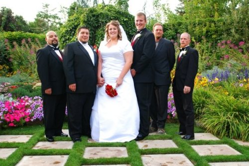 "Being taller than my new husband, and all the groomsmen except for my brother! I am 6'5"" (wearing no shoes for my wedding)"