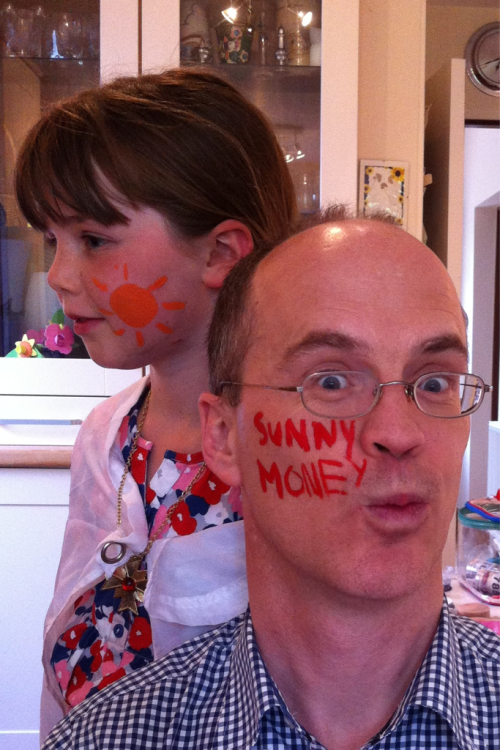 We've come up with a face painting campaign for SunnyMoney. Perhaps we can use this as part of a football tournament ?