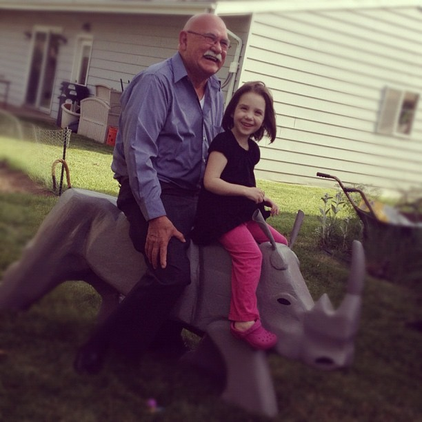 Ride that rhino! (Taken with Instagram)