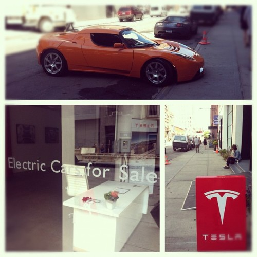 #electriccars for sale #eco #tesla (Taken with Instagram at Tesla New York)