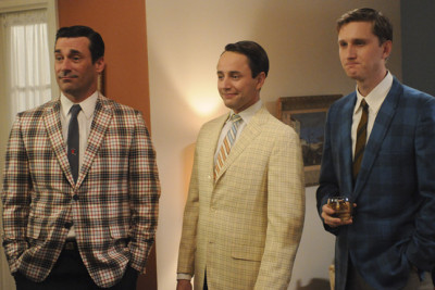 "johnpurlia:  Janie Bryant, the costume designer for Mad Men, on menswear and the ""plaid sports coat extravaganza"" seen here."