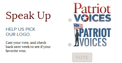These are the lame logo choices for Rick Santorum's new ego-trip nonprofit, Patriot Voices. We made some better logo choices. And yes, you can vote on ours, too.