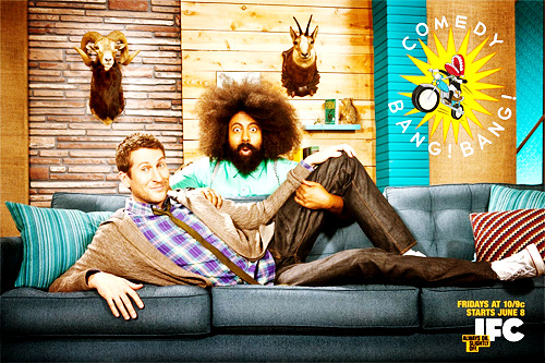 "rufustfirefly:  LISTEN UP: COMEDY BANG! BANG!, the most anticipated show of the summer (and my life), premieres TONIGHT (Friday) June 8, at 10/9c on IFC. If you're not sure you'd be into this or you haven't heard the podcast don't fret! In this post I have compiled clips from IFC.com to prepare you for what will be the best show you have ever seen in your LIFETIME (I am not exaggerating here). Want to know what the show is about? - CLICK HERE COMEDY BANG! BANG! - The Ultimate Teaser Trailer - featuring Scott ""Hot Saucerman"" Aukerman, Jon Hamm, Zach Galifianakis, Tenacious D, Casey Wilson, Topher Grace, David Koechner, Brett Gelman, Michael Cera, Gillian Jacobs, Nick Kroll, Reggie Watts, Seth Rogen, Will Forte, Will Arnett, AND MORE! COMEDY BANG! BANG! - Season 1 Trailer - Featuring, Andy Samberg, Patton Oswalt, Bob Odenkirk, Reggie Watts AND MORE! COMEDY BANG! BANG! - Sneak Peak - Featuring Scott Aukerman, Adam Scott, Paul F. Tompkins, Patton Oswalt, Bob Odenkirk, and Reggie Watts REGGIE MAKES MUSIC - Zach Galifianakis, Jon Hamm, Michael Cera, and Will Forte Not enough? - Watch a FULL EPISODE on right now and then turn your tv to IFC TONIGHT at 10/9c!  Season pass ya'llllllll"