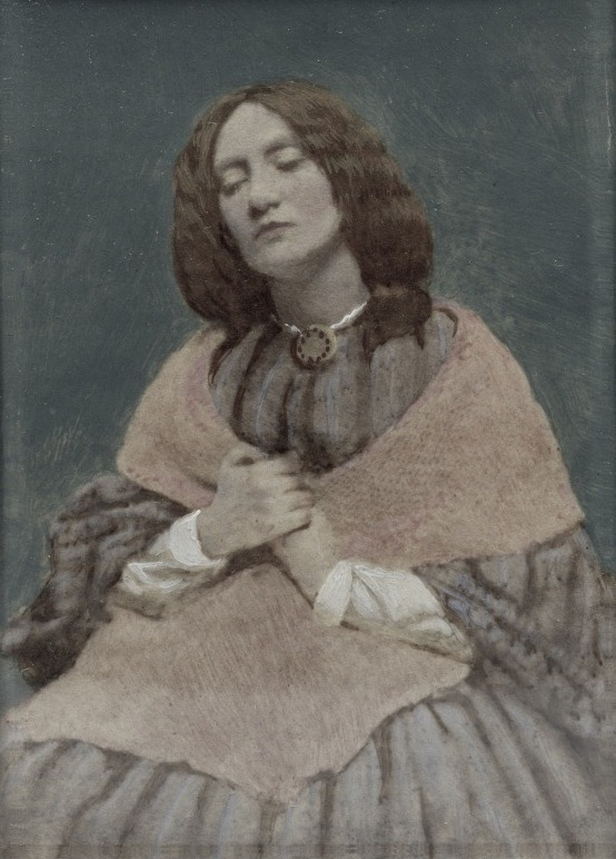 Hand-tinted photo of Elizabeth Siddal