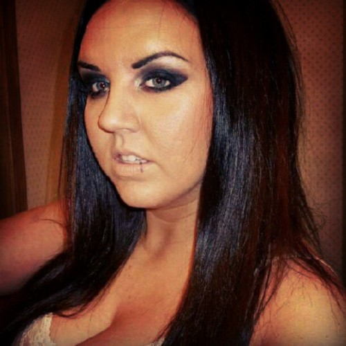 When I had #blackhair! I liked it but I grew up with #blondehair and #blueeyes and the total opposite of this. I just started to feel too unlike myself!! #hair #hairdye  (Taken with Instagram)