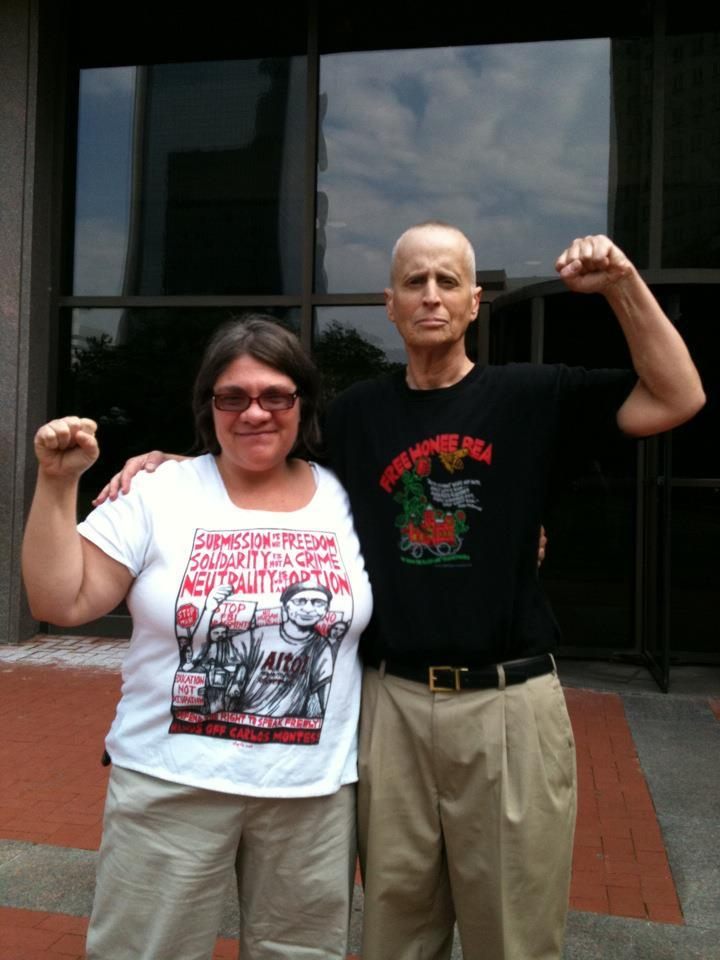 "VICTORY! Charges against Leslie Feinberg dropped Activists in Minneapolis report on today's arraignment of trans activist and author Leslie Feinberg, arrested for participating in a protest against the racist, transphobic conviction and sentencing of CeCe McDonald: ""The state decided to not press ANY charges against Leslie. However at any time in the next 3 years they can decide to reopen the case and file misdemeanor charges. But the threat of felony charges is now passed. The campaign to win Freedom for CeCe McDonald will continue!"" Thanks everyone who called and put the pressure on Minneapolis prosecutors to drop the charges! fuckyeahmarxismleninism:  Minneapolis: Comrades Jess Sundin and Leslie Feinberg celebrate after all charges were dropped during Leslie's arraignment on June 8, 2012. Feinberg was targeted for arrest while protesting the racist, anti-trans conviction and sentencing of CeCe McDonald; Sundin is one of the activists targeted by the FBI in 2010 and a leader of the Committee to Stop FBI Repression."