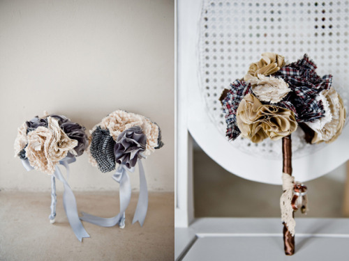 The best fabric bouquets I've seen in quite some time.
