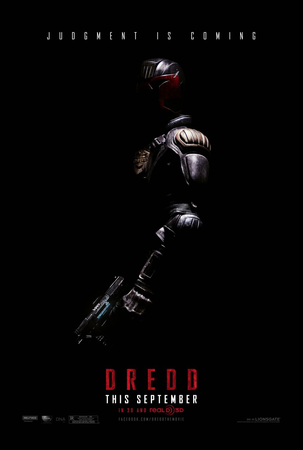 DREDD Director: Pete Travis Writers: Alex Garland Stars: Karl Urban, Olivia Thirlby and Lena Headey Synopsis: In a violent, futuristic city where the police have the authority to act as judge, jury and executioner, a cop teams with a trainee to take down a gang that deals the reality-altering drug, SLO-MO.