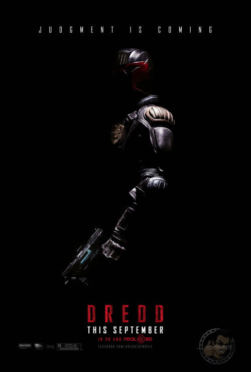 danhacker:  The First Teaser Poster For 'Dredd' It's like it's 1995 all over again. Pretty cool teaser poster for the 'Judge Dredd' reboot movie, something which still doesn't completely make sense to me. 'Dredd' hits theaters on september 12, this Fall. With it being slated to be released in September is a very telling sign about the potential quality of 'Dredd'.  via:joblo